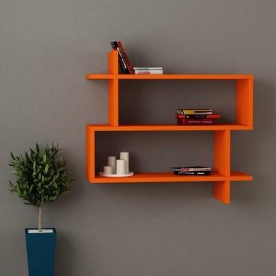 Kingscrafts Solid Wood Open Book Shelf(Finish Color - Orange)
