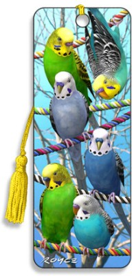Om Book Shop Budgies 3D Bookmark(General, Multicolor)  available at flipkart for Rs.110