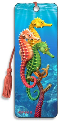 Om Book Shop Seahorses 3D Bookmark(General, Multicolor)  available at flipkart for Rs.110