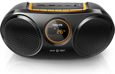 Philips Bluetooth USB Direct SD FM Digital Tuner (AT10/00) Boom Box (Black)