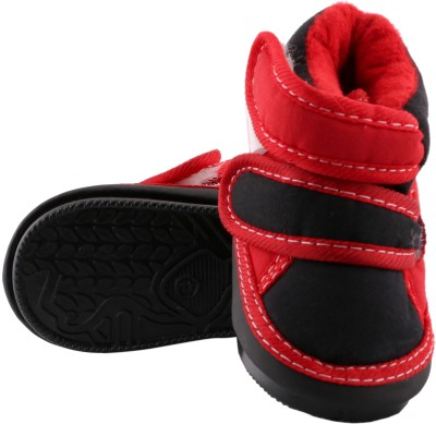 Morisons Baby Dreams Booties(Toe to Heel Length - 10 cm, Red)