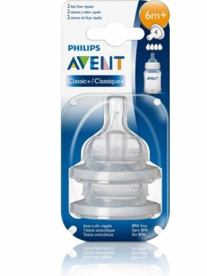 Philips Avent BPA Free Classic Fast Flow Nipple 2 ea Fast Flow Nipple(Pack of 1 Nipple)