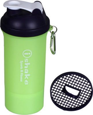 iShake 21 500 ml Shaker, Sipper(Green, White)  available at flipkart for Rs.232