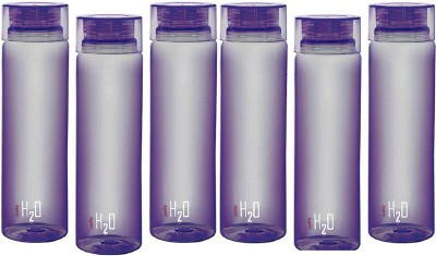 Cello H2O Unbreakable 1000 ml Bottle(Pack of 6, Purple)