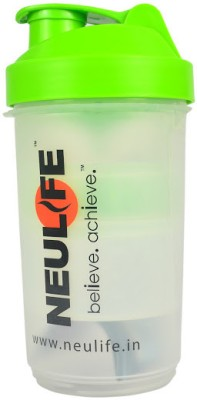 Neulife V3 Multi Storage 3 In One Shaker 800 ml Bottle(Green)