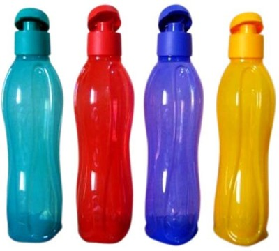 Tupperware Aquasafe Flip Top 750 ml Bottle(Pack of 4, Green, Yellow, Blue, Red)  available at flipkart for Rs.781