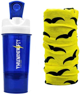 THUNDERFIT original sipper 500 ml Shaker, Sipper(Pack of 2, Multicolor)