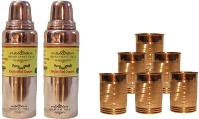 Indian Craft Villa ICV-C-7-156 3200 ml Bottle(Pack of 8, Brown) at flipkart