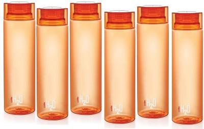 Cello H2O Orange 1 LTR Fridge Bottle Set of 6 1000 ml Bottle(Pack of 6, Orange) at flipkart