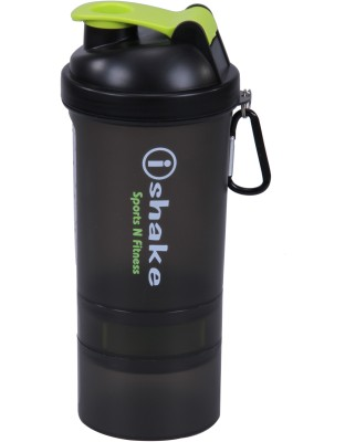 iShake Soot Green 019 gym bottle 500 ml Shaker(Black, Green)  available at flipkart for Rs.196