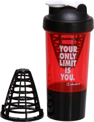 iShake Hurricane 500 ml Shaker, Sipper(Pack of 1, Red)  available at flipkart for Rs.267