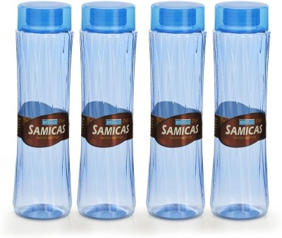 Steelo 1000ml x 4 pcs Premium PET Bottle Set (Samicas Blue) 1000 ml Bottle(Pack of 4, Blue)