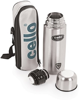 Cello Lifestyle 1000 ml Flask Pack of 1, Silver, Steel