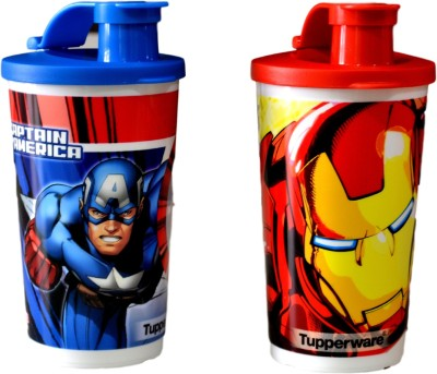 Tupperware Captain America And Iron Man Tumbler - (330ml) Set Of 2 330 ml Bottle(Pack of 2, Multicolor)