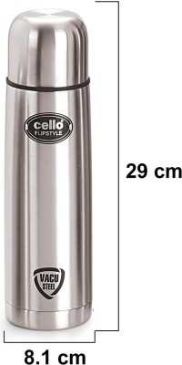 Cello S.S Flip Style 750 ml Flask(Pack of 1, Silver)