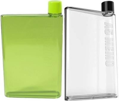Painter A5 Memo Notebook Bottle 420 ml Bottle(Pack of 2, Green, Black, Clear) at flipkart
