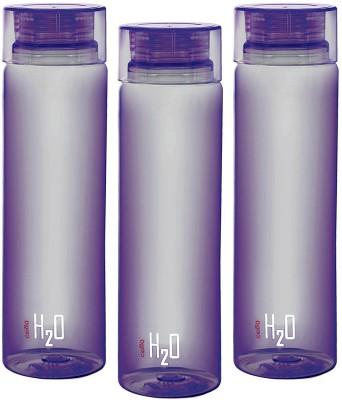 Cello H2O Purple 1 LTR Fridge Bottle Set of 3 1000 ml Bottle(Pack of 3, Purple) at flipkart