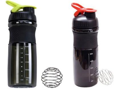 GreenBee My Gym 760 ml Shaker(Pack of 2, Black)