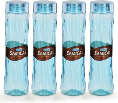 Steelo 1000ml x 4 pcs Premium PET Bottle Set (Samicas Green) 1000 ml Bottle(Pack of 4, Green)