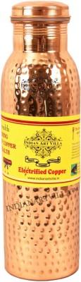 IndianArtVilla Hammered Leak Proof Joint Free 800 ml Bottle, Sipper, Flask(Pack of 1, Brown)