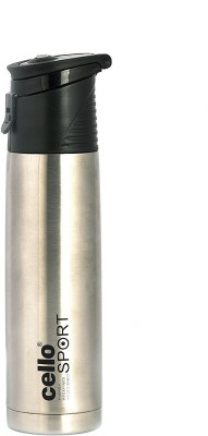 Cello S.S Striker 500 ml Flask Pack of 1, Silver