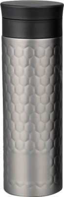 Shadowfax Stainless Steel Vacuumized Tea & Fruit Infuser Sipper Honeycomb Design 550 ml Flask(Pack of 1, Grey)