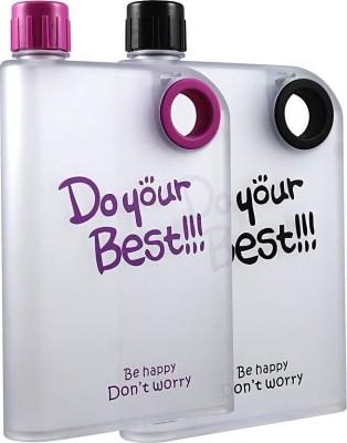 Shridhar DYB NoteBook Water Bottle 380 ml Bottle (Pack of 2, Multicolor) 380 ml Bottle(Pack of 2, Multicolor) at flipkart