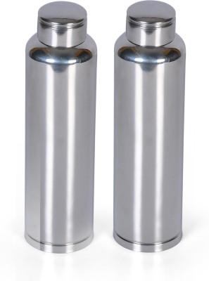 Nature's Select Plain 900 ml Bottle Pack of 2, Steel/Chrome, Steel Nature's Select Water Bottles
