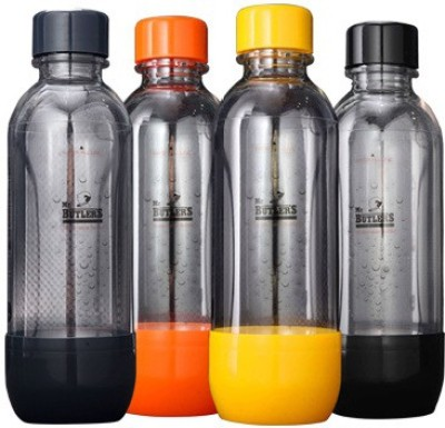 MR. Butler Pack of 4 500 ml Bottle(Pack of 4, Black, Grey, Yellow, Orange)
