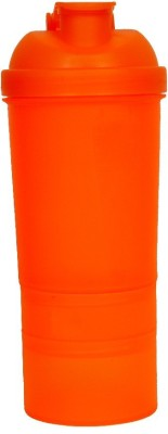 shroodax protein shaker bottle 500 ml Bottle(Pack of 1, Orange)  available at flipkart for Rs.249