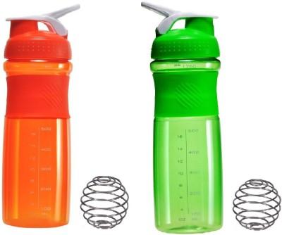 GreenBee My gym 760 ml Shaker(Pack of 2, Green, Orange)
