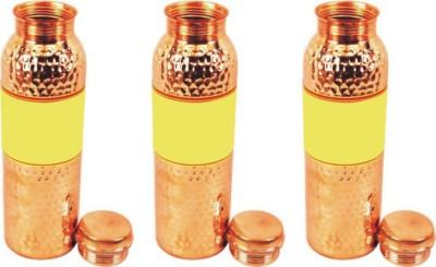 QUBIC INC Jointless 900 ml Bottle(Pack of 3, Brown) at flipkart