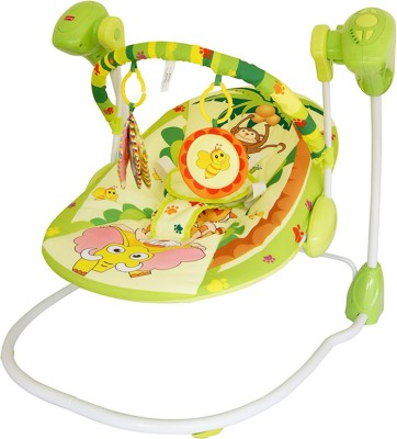 LuvLap Happy Forest Baby Swing(Green)