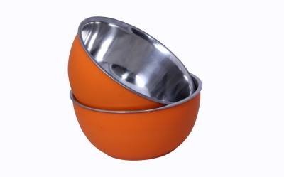 Liefde Stainless Steel Bowl Set(Orange, Pack of 2) at flipkart