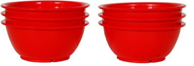 Day 2 Day Trendy Collection Plastic Dessert Bowl Red, Pack of 6 Day 2 Day Bowls