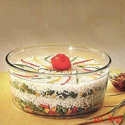 La Opala Glass Serving Bowl Clear, Pack of 1 La Opala Bowls