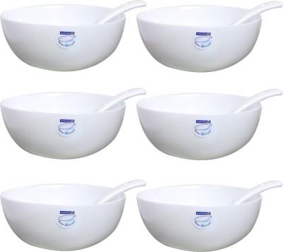 LUMINARC Loona Soup 12 CM Porcelain Soup Bowl White, Pack of 6 LUMINARC Bowls