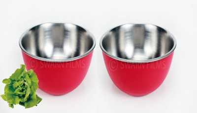 Liefde Stainless Steel Bowl Set(Pink, Pack of 2) at flipkart