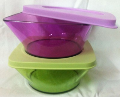 Tupperware Clear Square Round Microfibre Bowl Set(Multicolor, Pack of 2)  available at flipkart for Rs.540