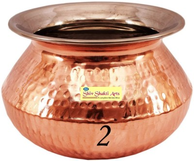 SSA Rajasthani/Punjabi handi no 2 without lid Copper Serving Bowl Brown, Pack of 1 SSA Bowls