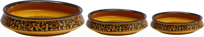Caffeine Brown Sehra Stoneware Bowl Set(Multicolor, Pack of 3)  available at flipkart for Rs.1499