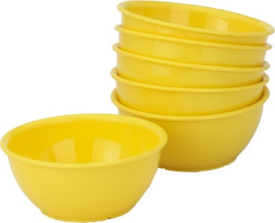 Bloom Colorful Veg Bowl Set (Set Of Six) Yellow Plastic Bowl Set(Yellow, Pack of 6) at flipkart