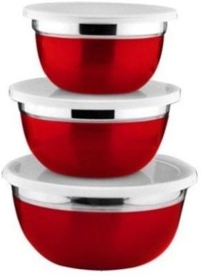 Lovato Stainless Steel Bowl Set(Red) at flipkart