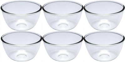 Lucky Thailand Glass Vegetable Bowl White, Pack of 6 Lucky Thailand Bowls
