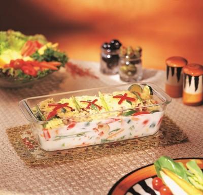 Borosil Loaf Dish 1.2 L Glass Vegetable Bowl White, Pack of 1 Borosil Bowls