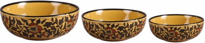 Caffeine Brown Sehra Stoneware Bowl Set(Multicolor, Pack of 3)  available at flipkart for Rs.1899
