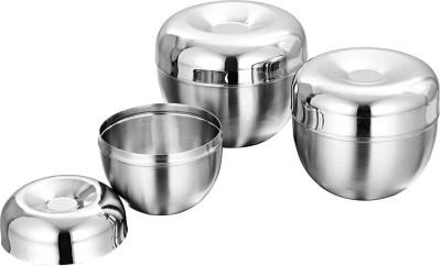 Lavi Stainless Steel Bowl Set(Silver, Pack of 3) at flipkart