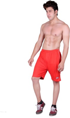 Gag Wear Solid Men's Red Sports Shorts