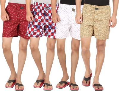 Joven Printed Men Boxer(Pack of 4) at flipkart