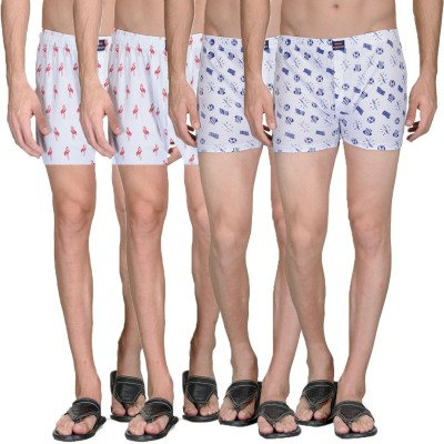 Feed Up Printed Men's Boxer(Pack of 4)